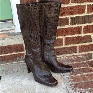 Liz Claiborne leather boots women's size 7 1/2